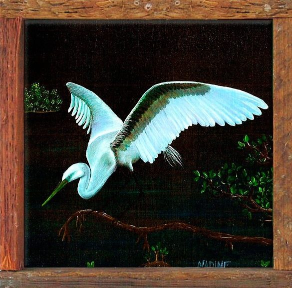 """Heron At Twilight"""