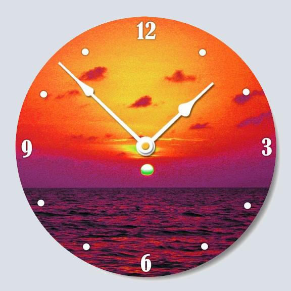 Wall Clock Of A Florida Bay Sunset Wall Art Lobster Trap Art