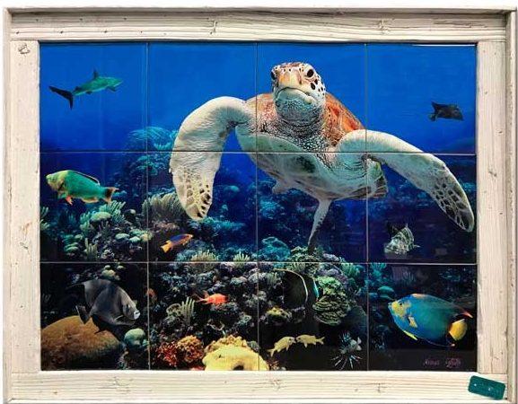 """18""""x24"""" Tile Mural Single Slat $329"""