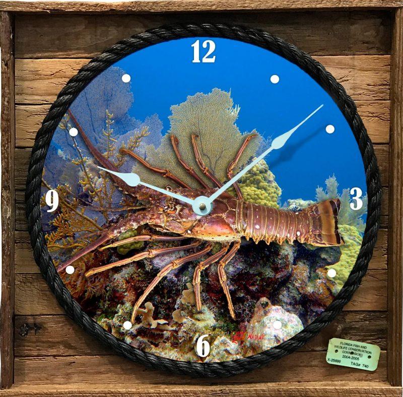 Lobster Clock in Lobster Trap Frame