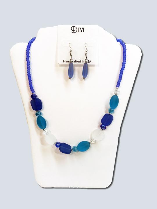 Seaglass catch a fish necklace set